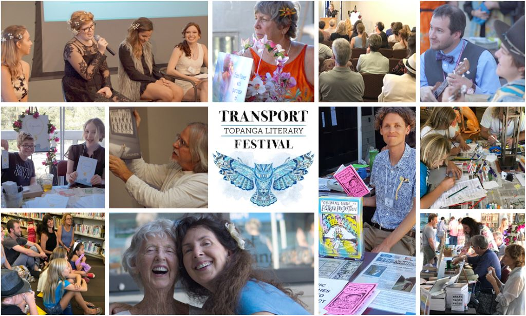 Image collage from the Transport Topanga Literary Festival